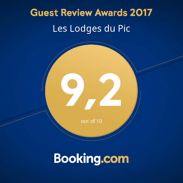 booking-guest-award-montpellier Les Lodges du Pic : Guest Review Awards 2017 !